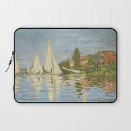 Regattas at Argenteuil by Claude Monet Laptop Sleeve