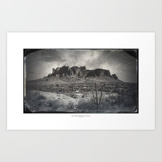 Superstition Mountain - Arizona Desert Art Print