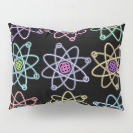 Gold and Silver Atomic Structure Pattern Pillow Sham