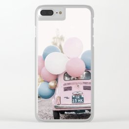 Pastel car Clear iPhone Case