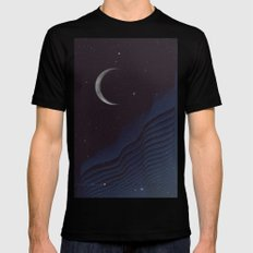 Waxing Cr3sc3nt Glytch Black LARGE Mens Fitted Tee