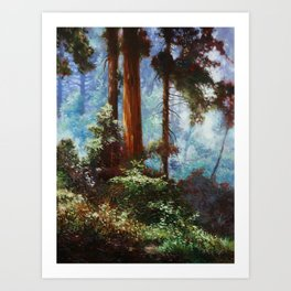 The Forrest Through the Trees Art Print