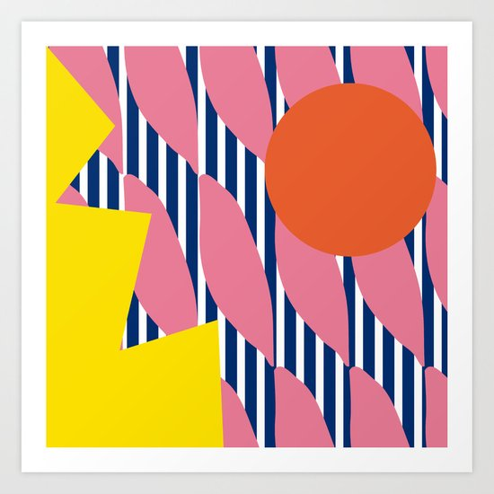 Stripe Sunrise Art Print