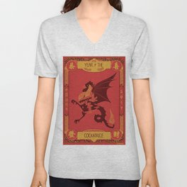 Year of the Cockatrice (Hong Bao) Unisex V-Neck