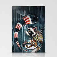 racoon Stationery Cards featuring Racoon by mr. louis