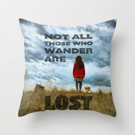 Not Lost - painting by Brian Vegas Throw Pillow
