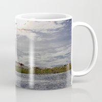 rileigh smirl Mugs featuring At the Beach by Rileigh Smirl