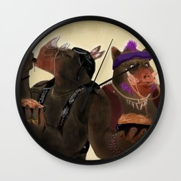Bebop And Rocksteady Wall Clock