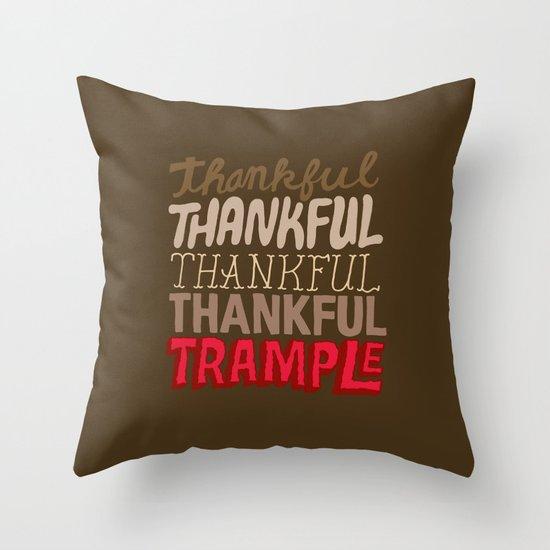 Thanksgiving, Black Friday Throw Pillow