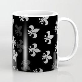 Black and White Fleur-Di-Lis Coffee Mug