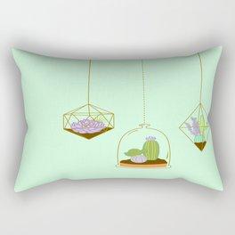 Cactus Terrarium Rectangular Pillow