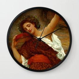 """Frederic Leighton """"Bacchante"""" Wall Clock"""