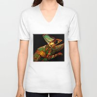 dragon ball z V-neck T-shirts featuring KARMA CHAMELEON by Catspaws