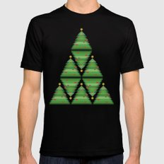 Over the trees Mens Fitted Tee MEDIUM Black