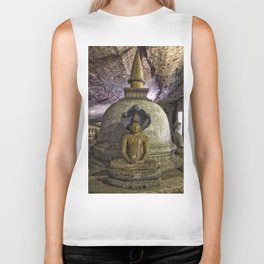 Temple within a cave Biker Tank