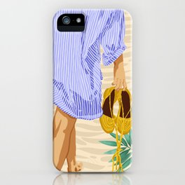 I followed my heart & it led me to the beach #painting #travel iPhone Case