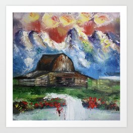 Swiss Landscape Art Print