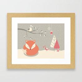 Christmas baby fox 06 Framed Art Print