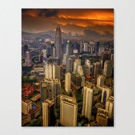 Kuala Lumpur City Sunset Canvas Print