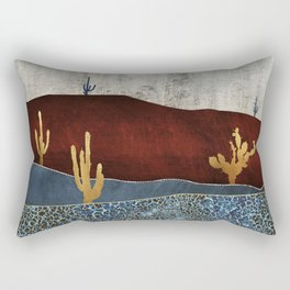 Moonlit Desert Rectangular Pillow