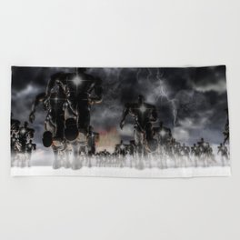 Soldiers Of Virtue Beach Towel