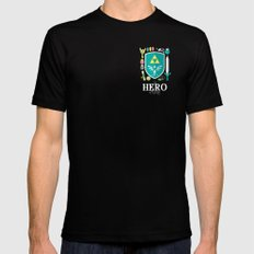 Hero of Time SMALL Black Mens Fitted Tee