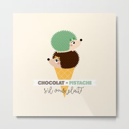 Chocolat-pistache Metal Print