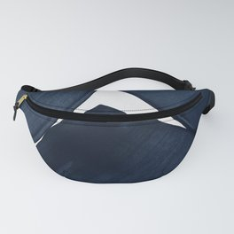 Minimalist Painting Blue II, Modern Abstract Fanny Pack