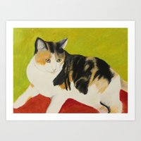 nori Art Prints featuring Nori by jeannefischer