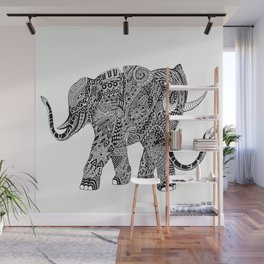 Snakelephant Indian Ink Hand Draw Wall Mural