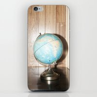 globe iPhone & iPod Skins featuring globe by jacob rattin
