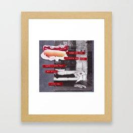 Hot Dogs & Dumb Twats Framed Art Print