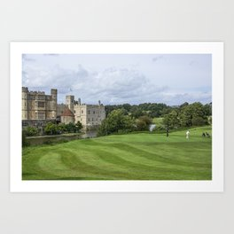 Putting at Leeds Castle Golf Course Art Print