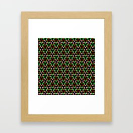 Mexican Triangles Framed Art Print