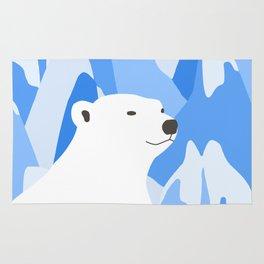Polar Bear In The Cold Design Rug
