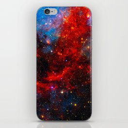 Dreamers In An Endless Universe, Galaxy Background, Universe Large Print, Space Wall Art Decor iPhone Skin