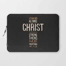 I Can Do All Things Through Christ Bible Verse Laptop Sleeve