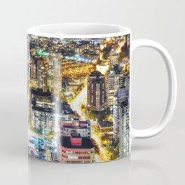 Voyeuristic 1564 Vancouver Cityscape Granville & Burrard Bridge Artery - British Columbia Canada Coffee Mug