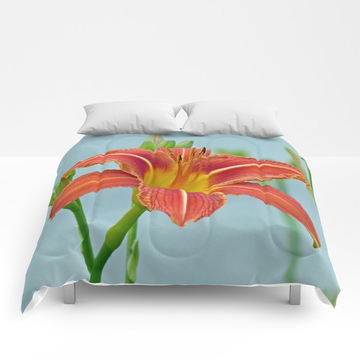 Tiger Daylily Comforters
