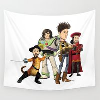 bastille Wall Tapestries featuring OPC Bastille Technicolor by Other People's Characters