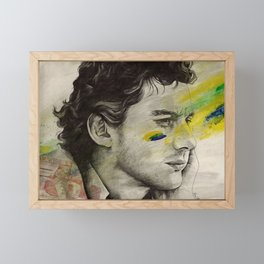 Rei Do Brasil: Tribute to Ayrton Senna da Silva Framed Mini Art Print