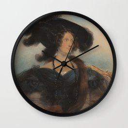 Portrait of Jane Jarvis Wall Clock