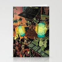 lanterns Stationery Cards featuring Lanterns by Christine Larsen