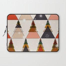 fir trees mid century winter wth snow flakes Laptop Sleeve