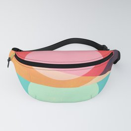 Abstraction_SUNSET_REFLECTION_MOUNTAINS_POP_ART_0222A Fanny Pack