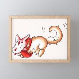 Kabuki Inu Framed Mini Art Print