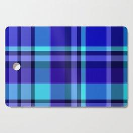 Blue Plaid Pattern Cutting Board