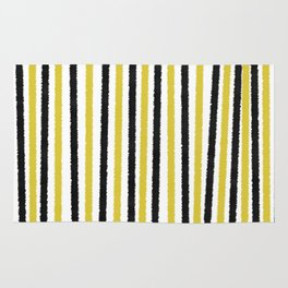 Gold and Black Stripes Rug