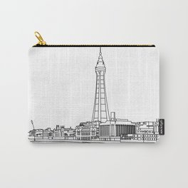 Blackpool Line Art Landscape Carry-All Pouch