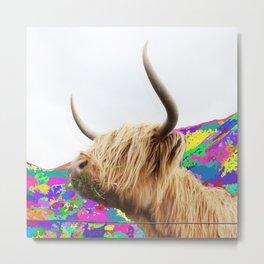 Highland Blondie Metal Print